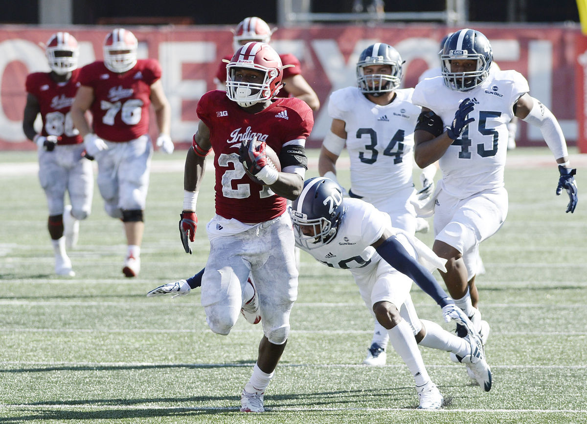 Indiana takes charge early to beat Georgia Southern 52-17 ...