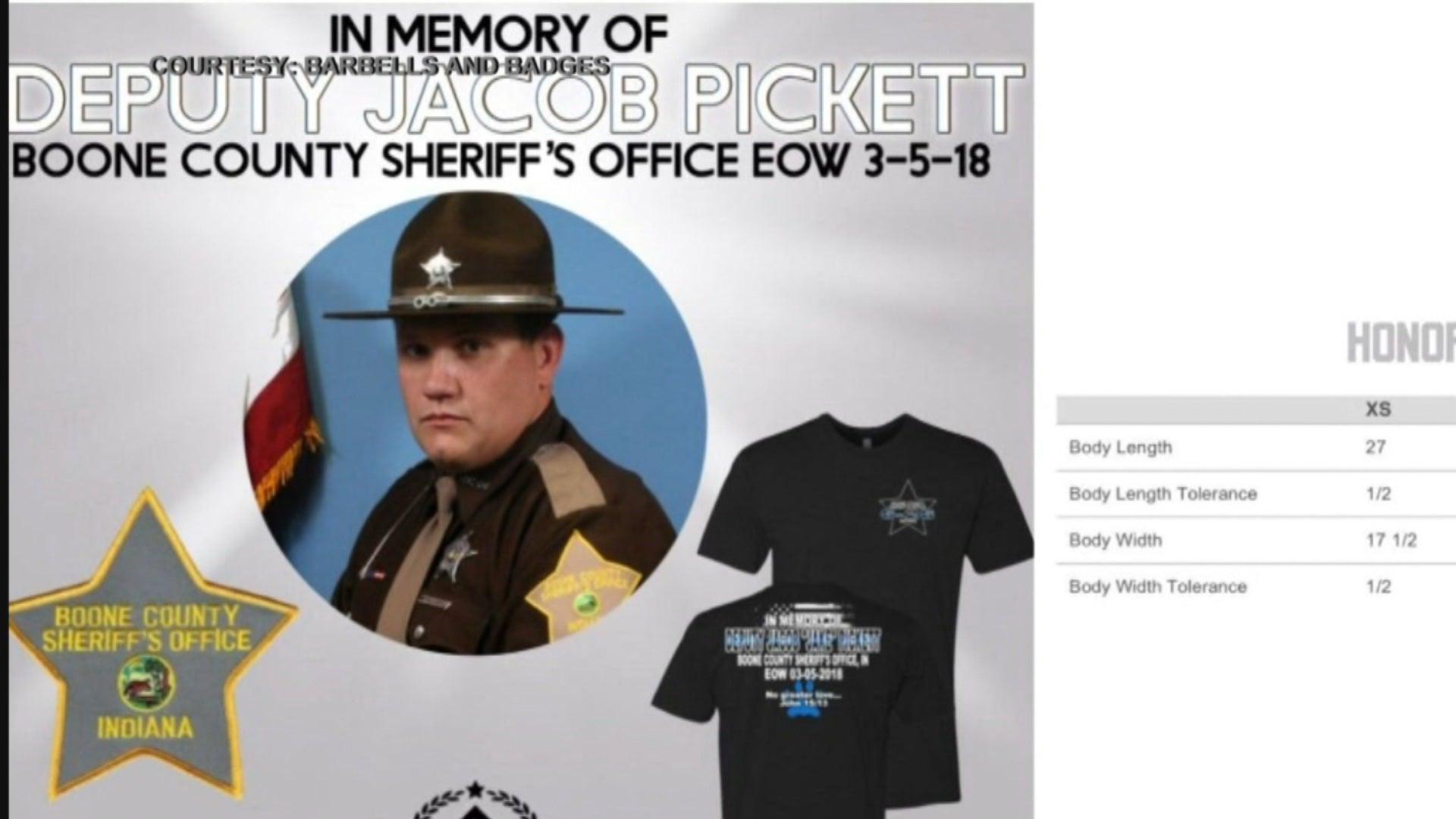 T-shirts to honor Deputy Pickett, help fund Washington trip